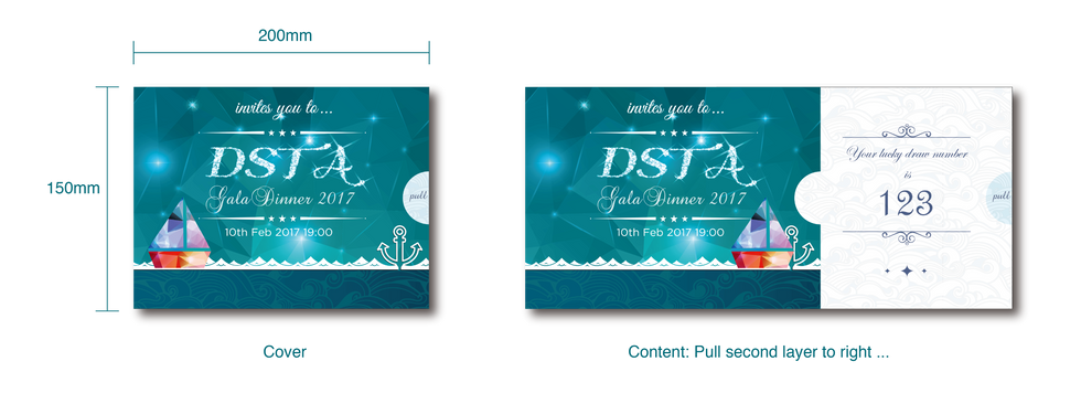 Dinner & Dance Invitation Card