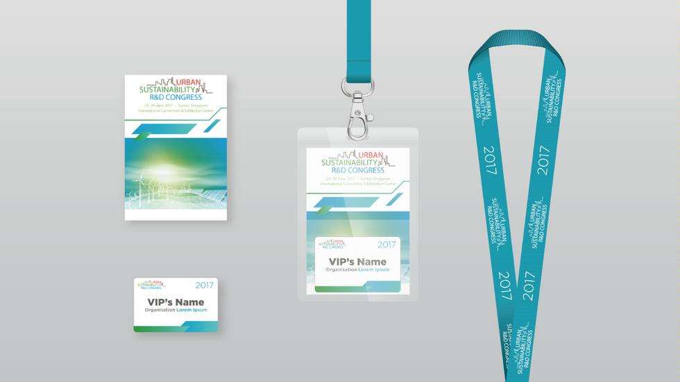 Urban Sustainability R&D Congress Name Badge & Lanyard