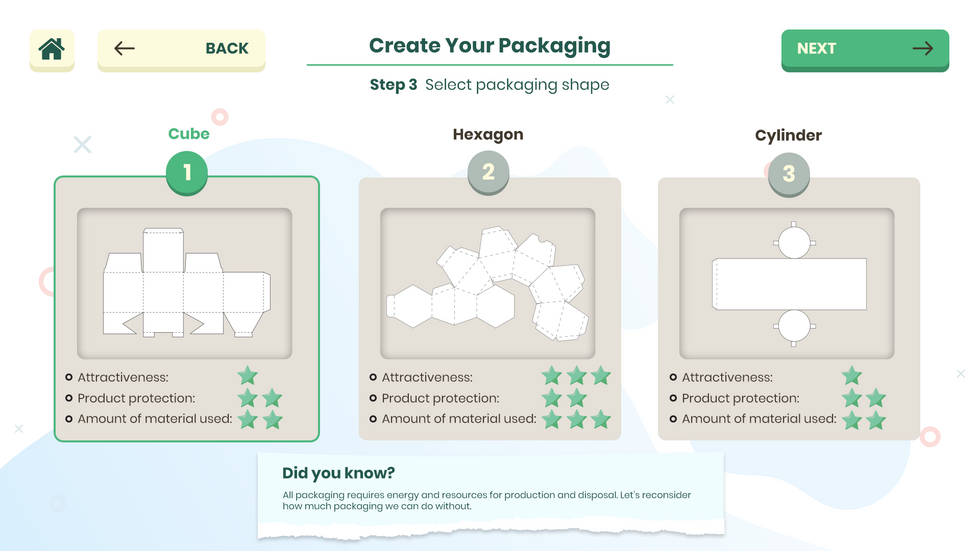 Packaging Game Shape