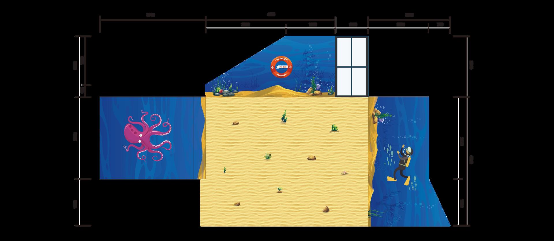 Primary School Wall Mural Dimension 1