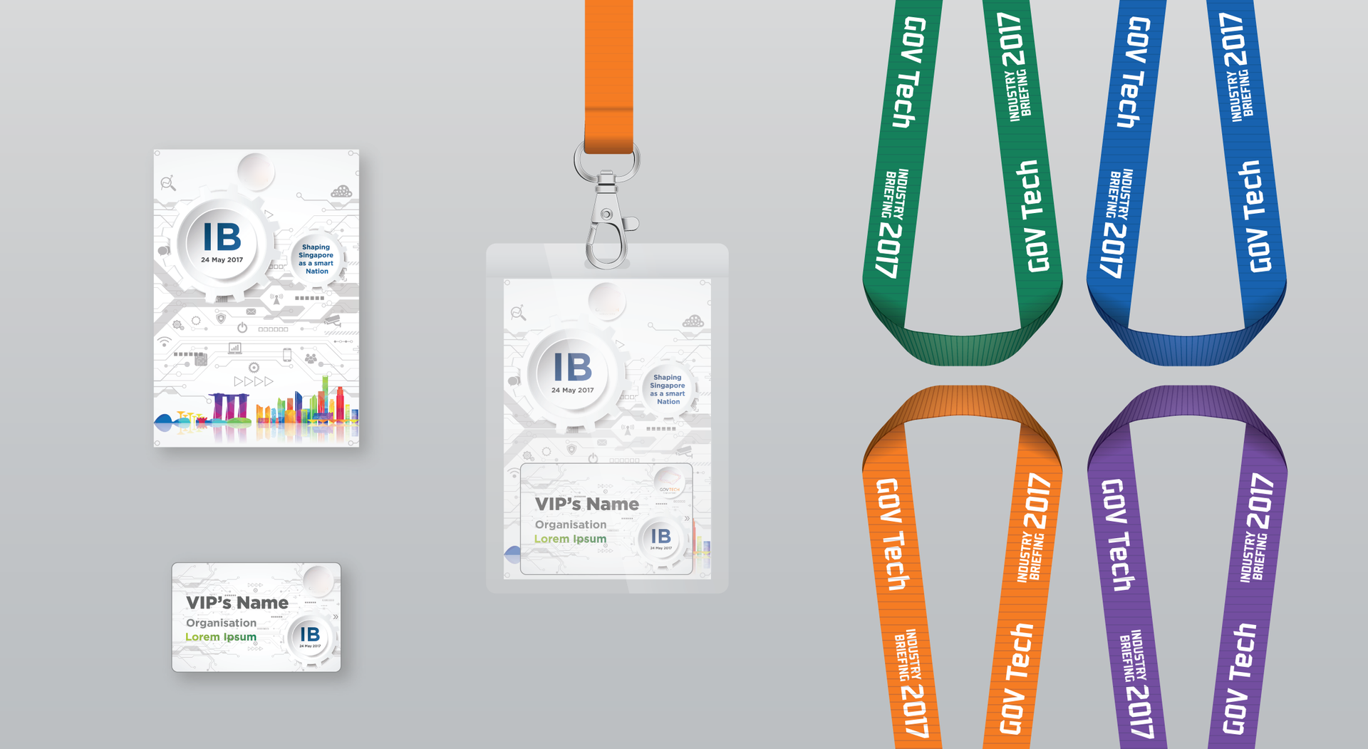 Industry Briefing Name Badge & Lanyard