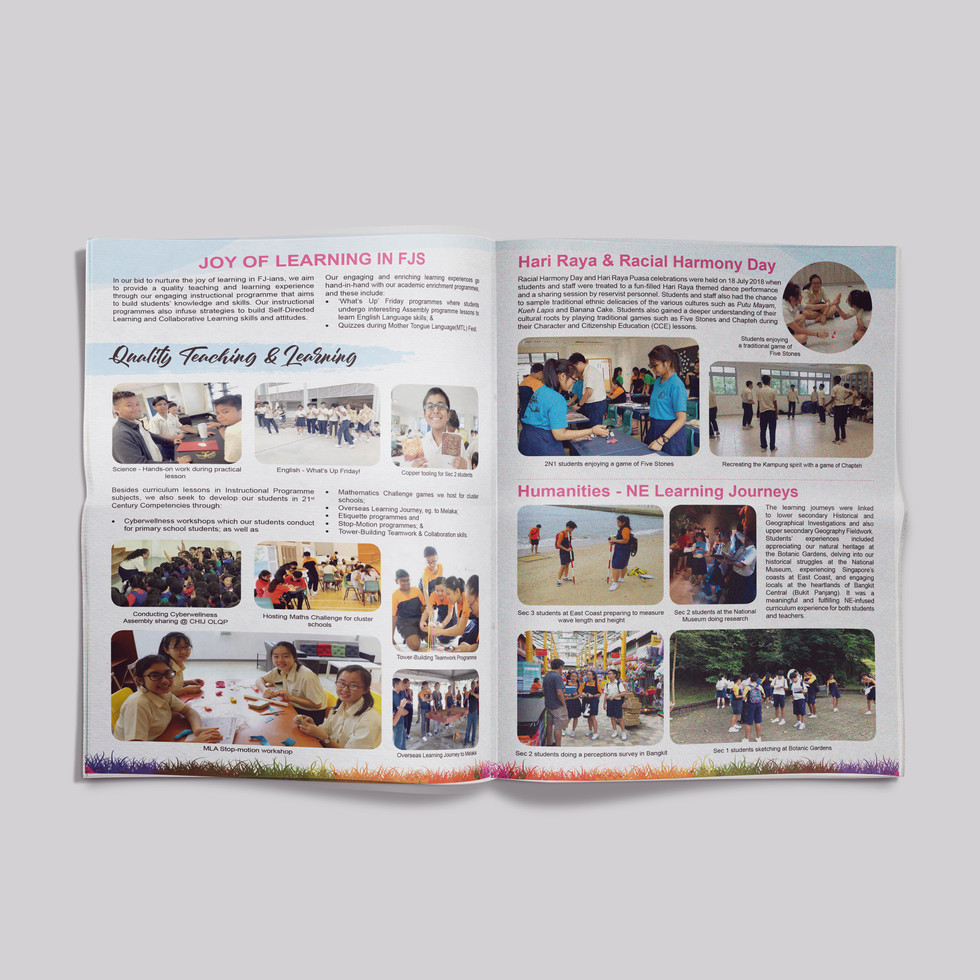Fajar Secondary School newletter page 2&