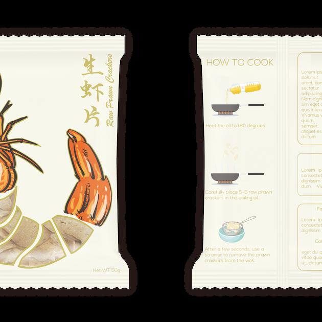 Fish Cracker Design - White