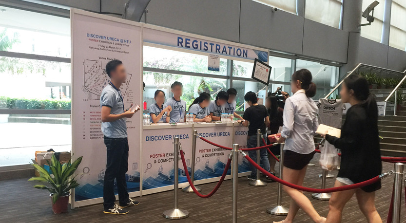 NTU Discover URECA Poster Exhibition Registration Booth