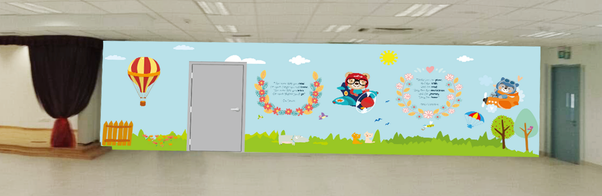 Stamford Primary School Library Wall Mural