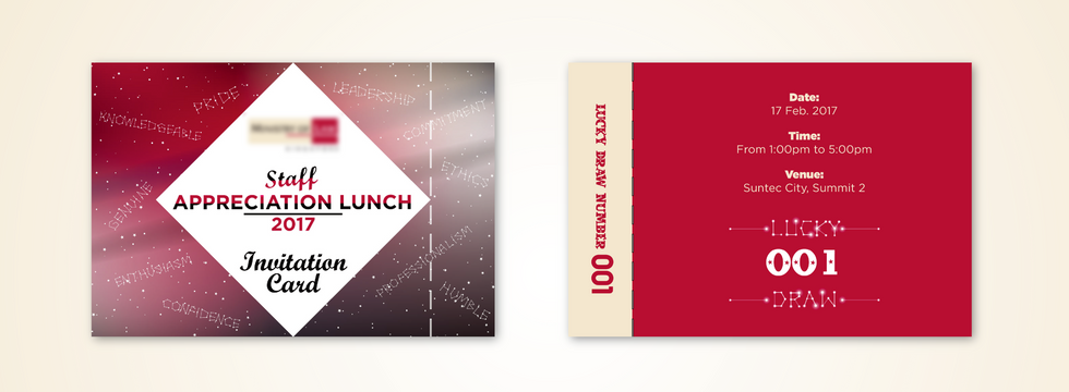 Staff Appreciation Lunch Invitation Card