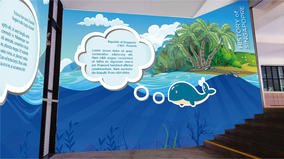 Primary School Wall Mural 2-2