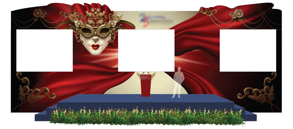 Dinner & Dance Stage Backdrop with LED Screens 1
