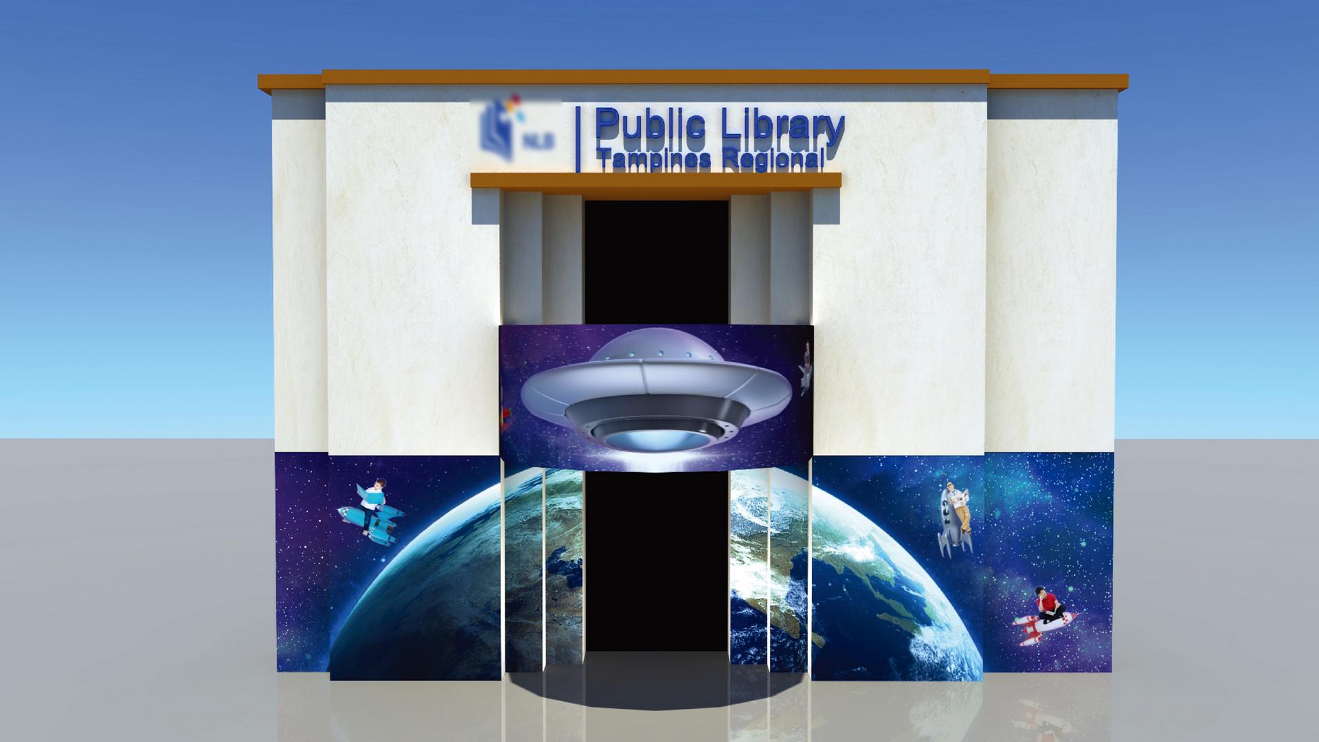 Tampines Regional Library Creative Wall Mural 1
