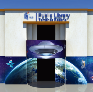 Tampines Regional Library Creative Wall Mural