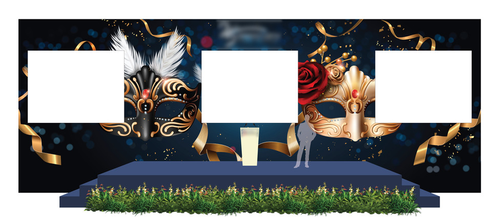 Dinner & Dance Stage Backdrop with LED Screens 2