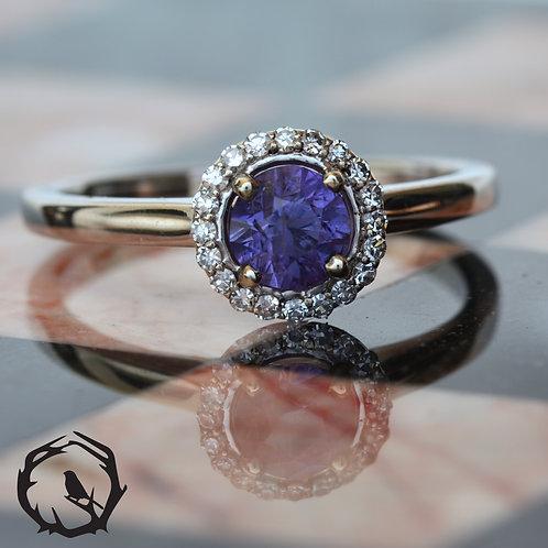 1.1 carat Umba Sapphire Halo Violet