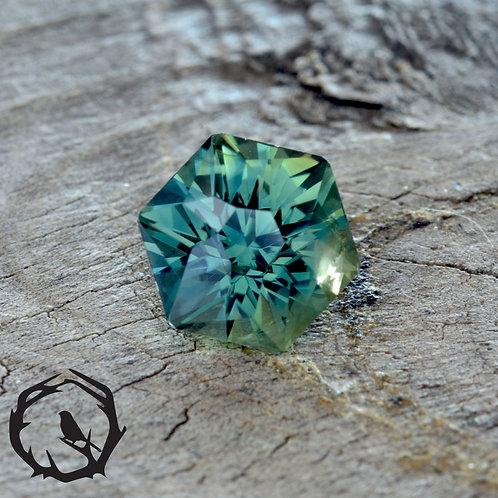 1.62 carat Montana Sapphire Blue-Green