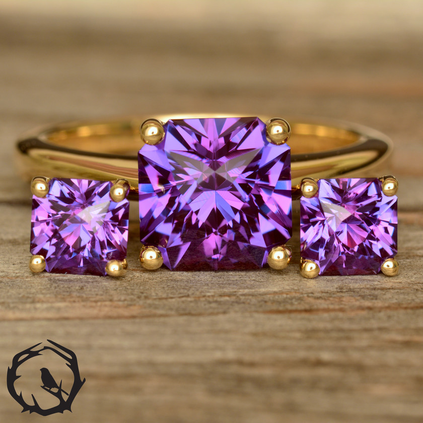 Alexandrite Ring and Earrings