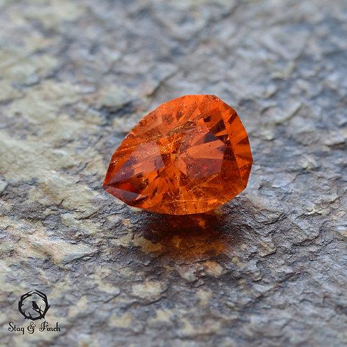 1.36 carat Spessartite Garnet Tangerine Orange