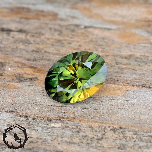 2.2 carat Australian Sapphire Bi-Color Green-Yellow