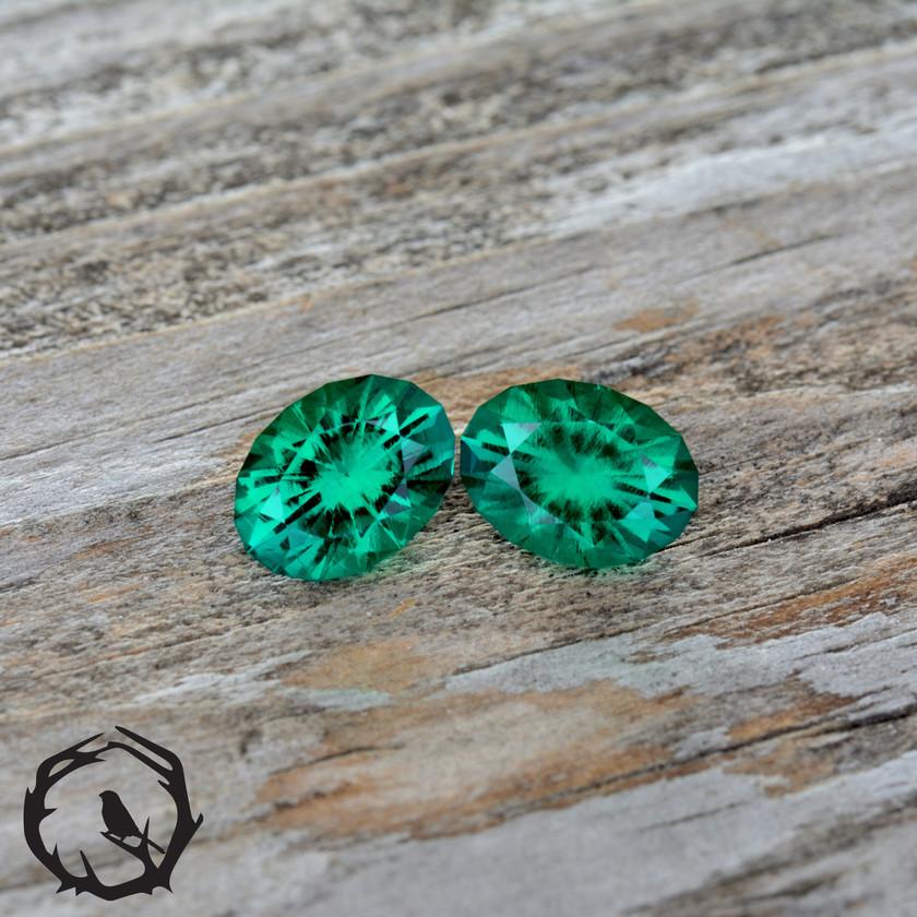 Hydrothermal Emerald Pair