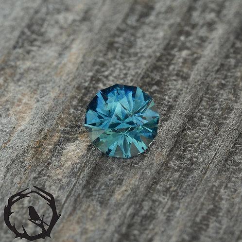 0.63 carat Montana Sapphire Blue-Green (Heated)