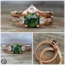 Custom Sapphire Wedding Set