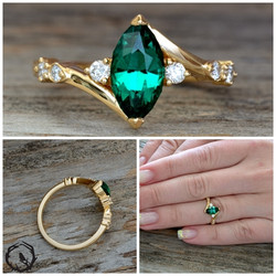 Hydrothermal Emerald Marquise
