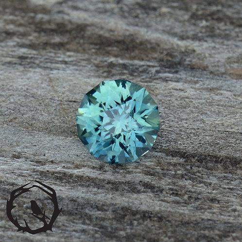 0.70 carat Montana Sapphire Blue-Green (Heated)