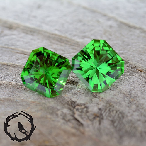 1.41 carat Pair Tourmaline Green
