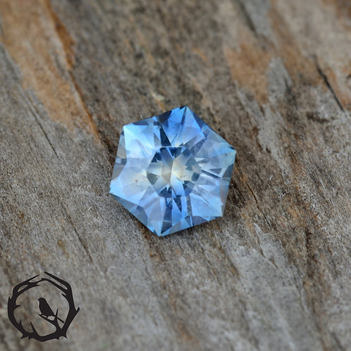 1.3 carat Montana Sapphire Bi-Color (Untreated)