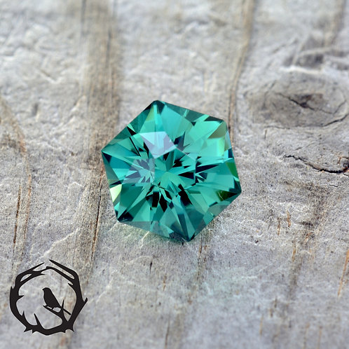 Lab Created Sapphire Caribbean Green