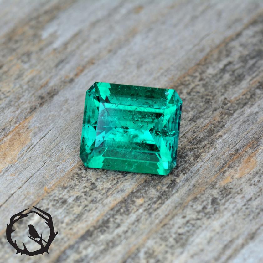 Hydrothermal Emerald Step Cut