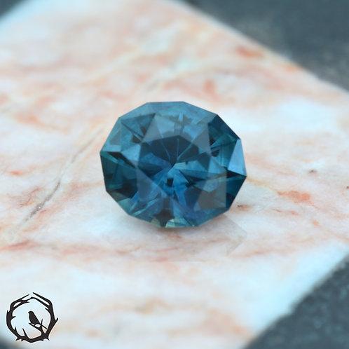 1 carat Montana Sapphire Blue-Green (Heated)