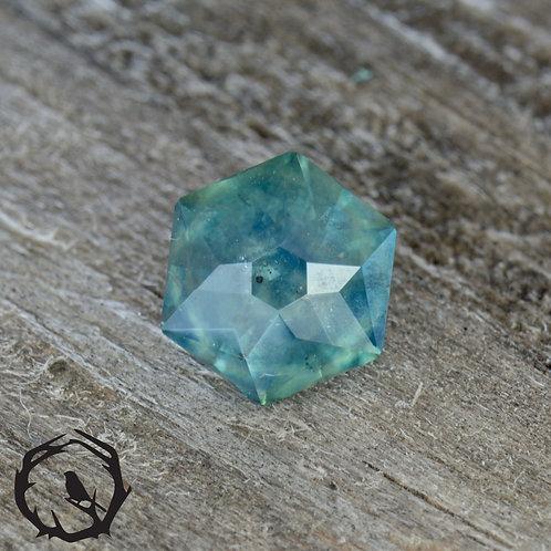 0.8 carat Montana Sapphire Teal (Heated)