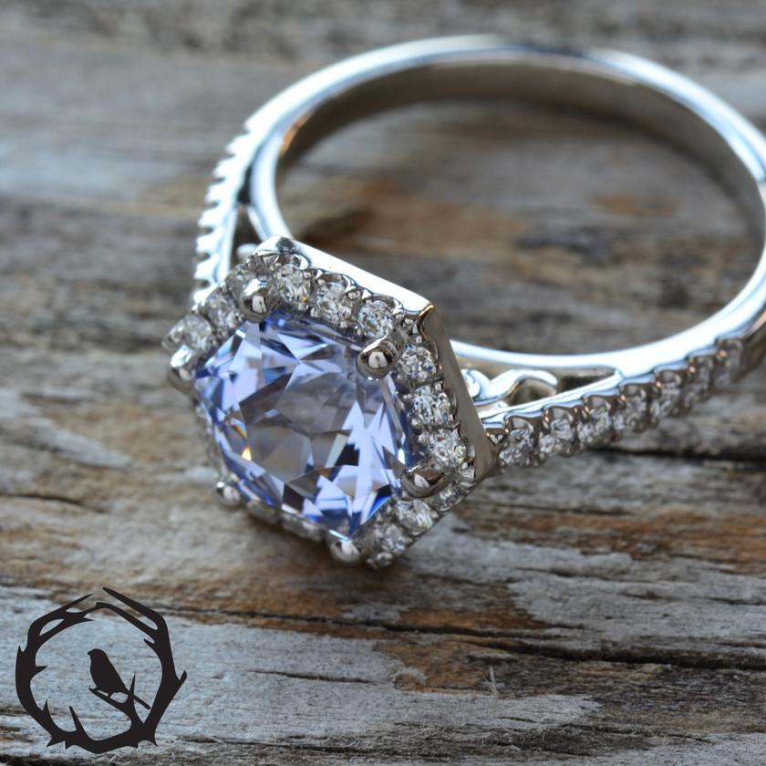 Cosmos Hex Platinum Ring