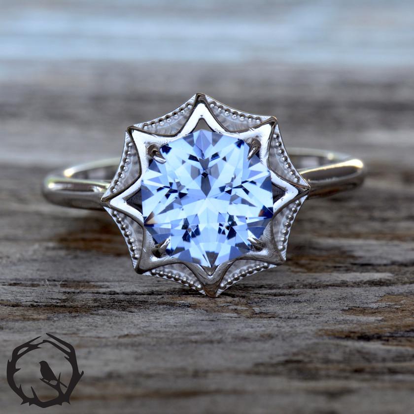 Sirius Lab Sapphire Ring