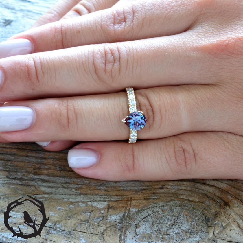 Custom Alexandrite Ring