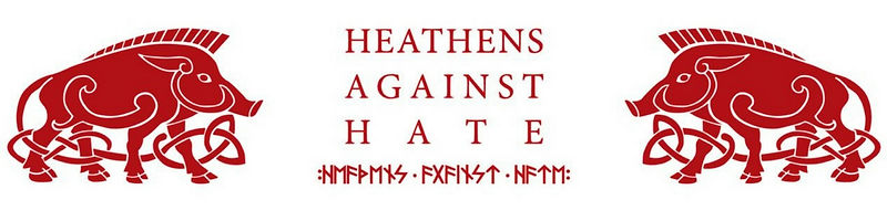 Heathens Against Hate Horizontal Logo
