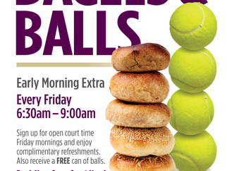 FREE Bagels & Balls Every Friday Morning