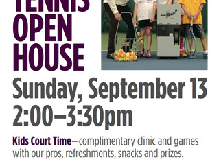 Back to Tennis Open House