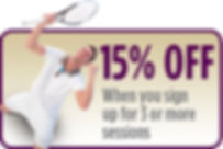Sign Up for 3 Indoor Tennis Sessions and Get 15% off