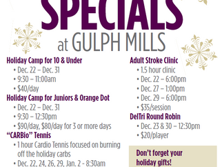 Join us for Holiday Events and Specials!