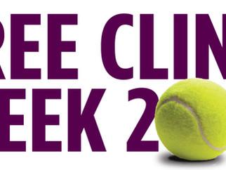 Free Tennis Clinic Week at Gulph Mills Tennis Club