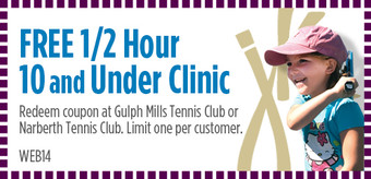8 and Under Tennis Lesson Coupon