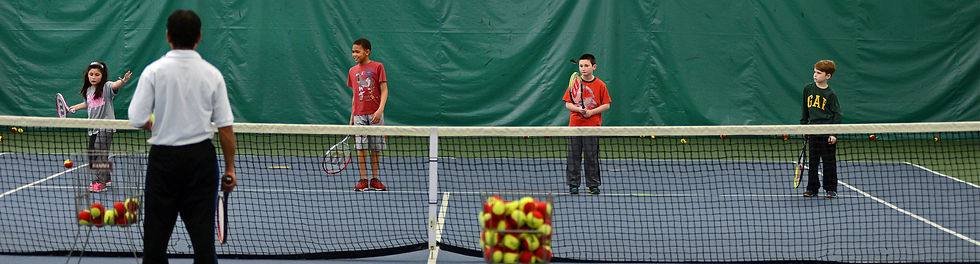 Indoor Tennis Lessons for Students 8 and Under