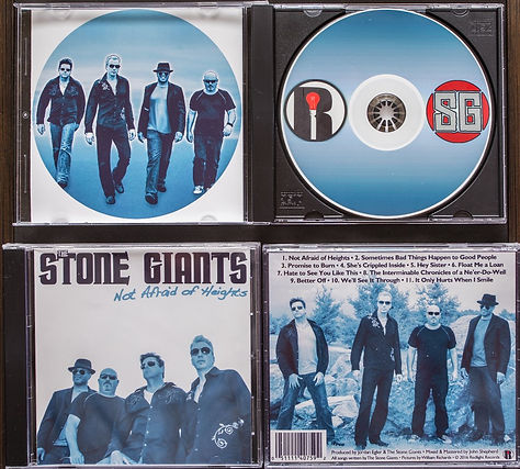 The Stone Giants 'Not Afraid Of Heights' CD case