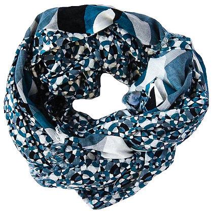 Foulards en coton Kaleidoscope bleu