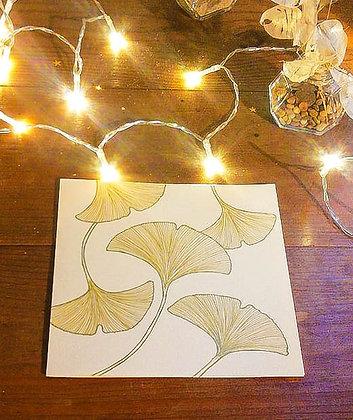 Carte feuilles de Ginkgo