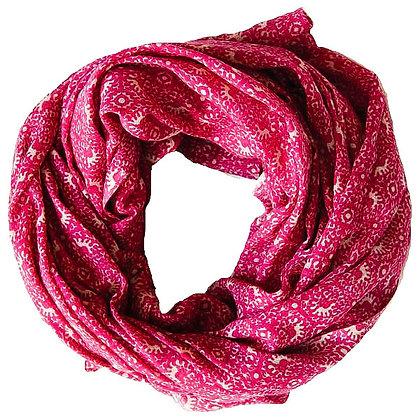 Foulards en coton Rose Indien