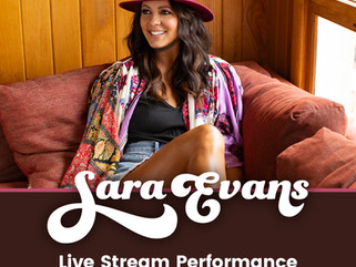 """SARA EVANS """"COPY THAT"""" LIVESTREAM MAY 29 TO BENEFIT LOCAL VENUES"""