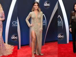 Country Music Stars Rock The CMA Awards Red Carpet
