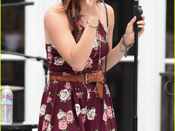 Lucy Hale performing at Hollister House