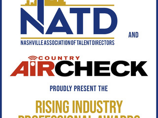NATD AND COUNTRY AIRCHECK PRESENT THE RISING INDUSTRY PROFESSIONAL AWARDS, NOMINATIONS OPEN NOW